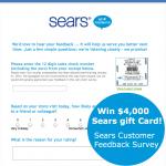 www.searsfeedback.com - win $4,000