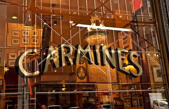 Carmine s restaurant survey for Carmines nyc