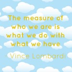 The measure of who