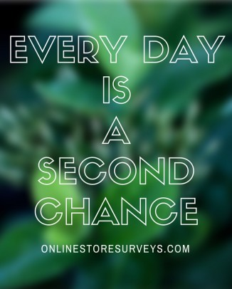 Every Day is a Second Chance
